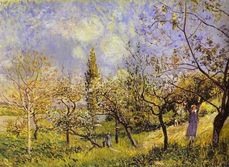 Alfred Sisley. Orchard in Spring - By.