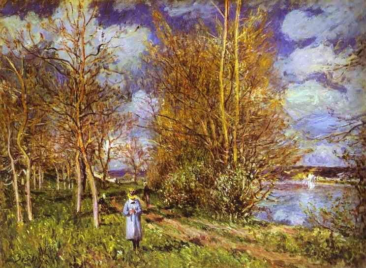 Alfred Sisley. Small Meadows in Spring - By.