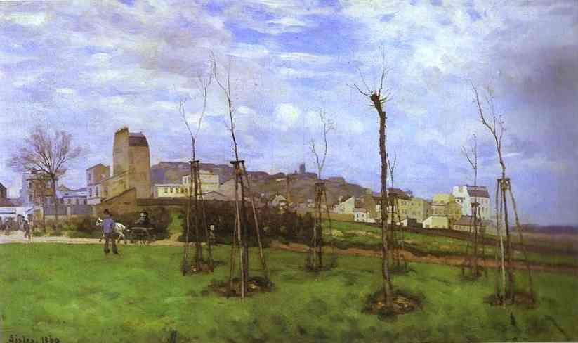 Alfred Sisley. View of Montmartre from the cité des Fleurs.