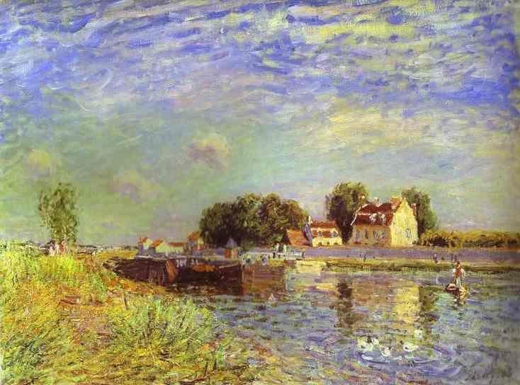 Alfred Sisley. The Canal du Loing at St. Mammes.