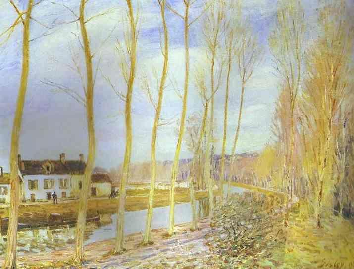 Alfred Sisley. The Canal du Loing at Moret.