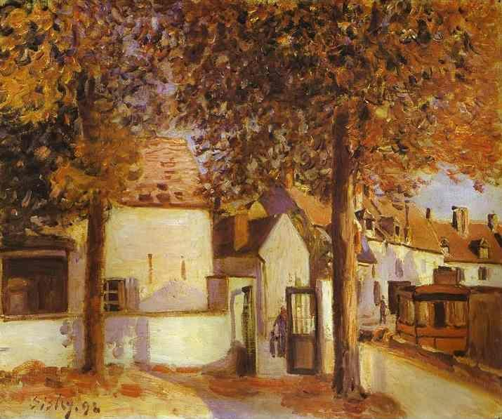 Alfred Sisley. View in Moret (rue des Fosses).
