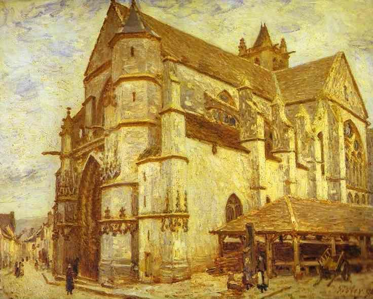 Alfred Sisley. The Church at Moret - Icy Weather.