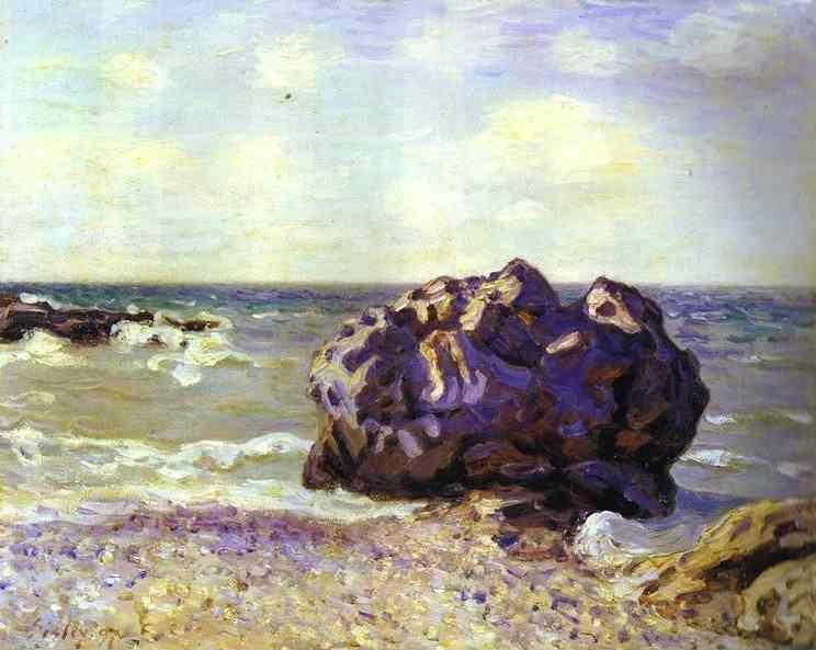 Alfred Sisley. Langland Bay, Storr's Rock - Morning.