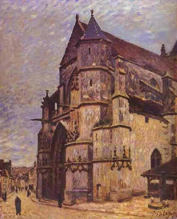 Alfred Sisley. The Church at Moret, Winter.