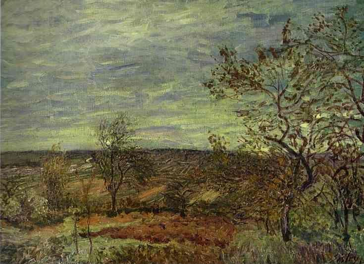 Alfred Sisley. Windy Day at Veneux.