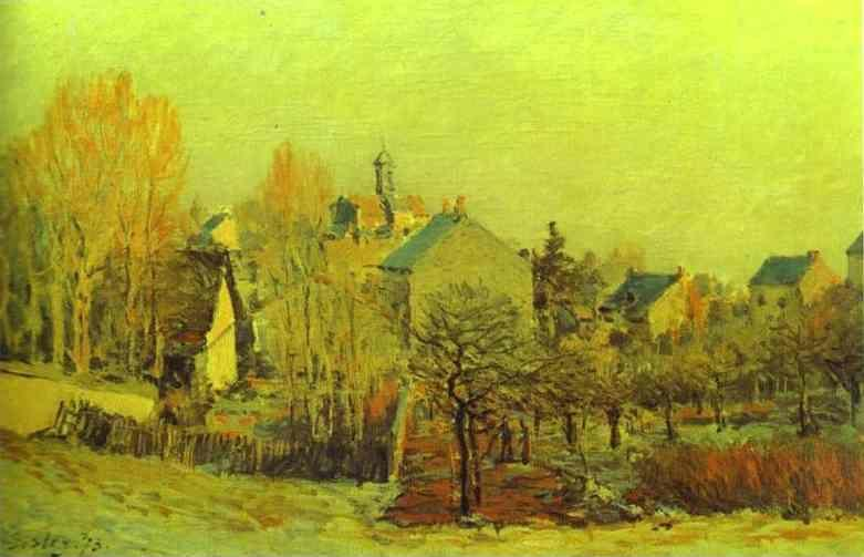 Alfred Sisley. Frost in Louveciennes.