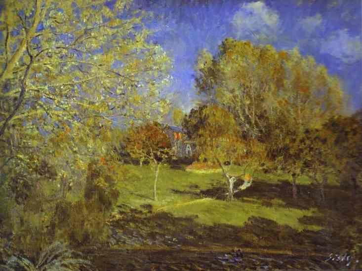 Alfred Sisley. The Garden of Hoschede. Montgeron.