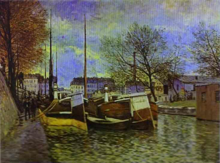 Alfred Sisley. The St. Martin Canal in Paris.