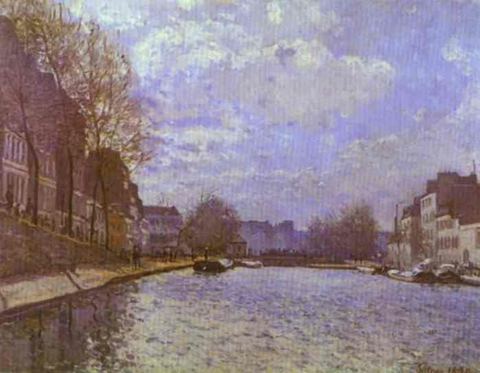 Alfred Sisley. The Saint-Martin Canal in Paris.
