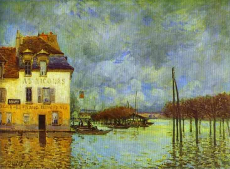 Alfred Sisley. Flood at Port Marly.