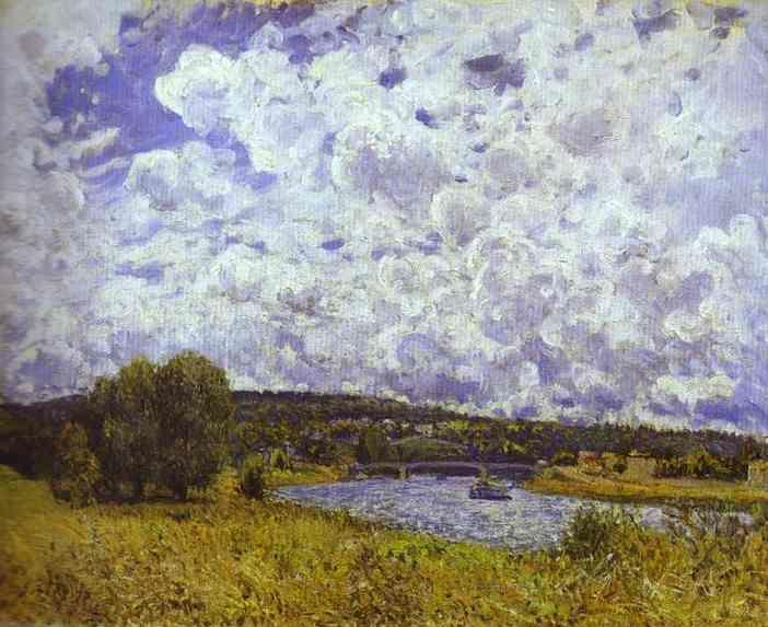 Alfred Sisley. The Seine at Suresnes.
