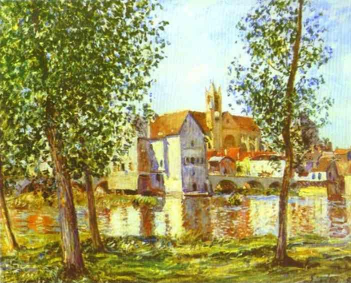 Alfred Sisley. Moret-sur-Loing in Morning Sun.