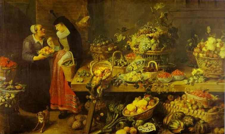 Frans Snyders. Fruit Stall.