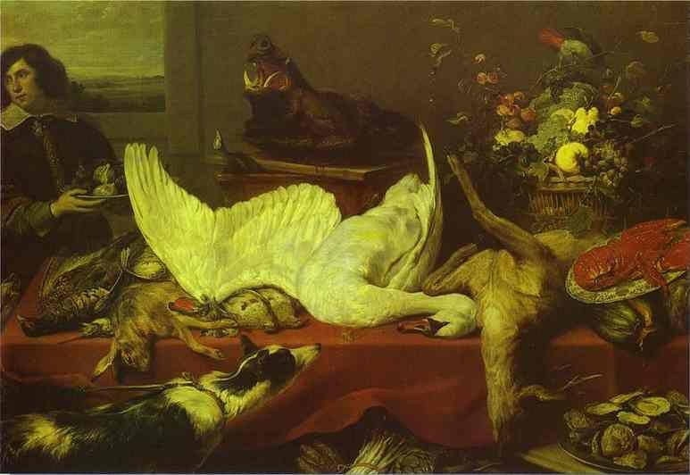 Frans Snyders. Still Life with a Swan.