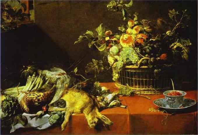 Frans Snyders. Still Life with Fruit Basket and Game.