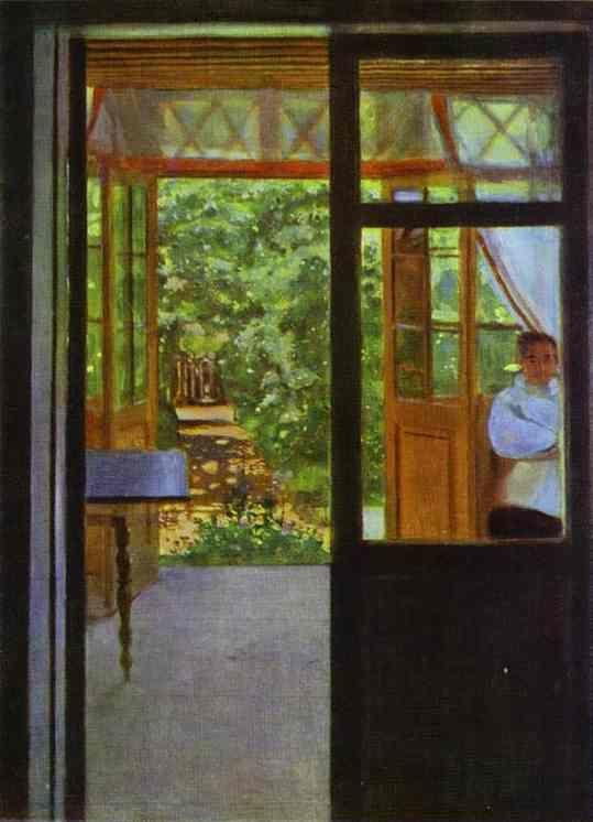 Constantin Somov. On the Balcony.