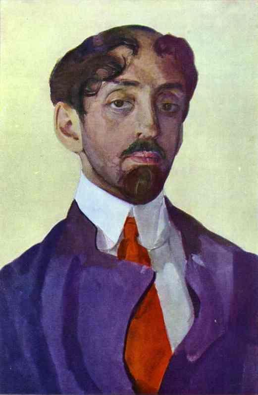 Constantin Somov. Portrait of the Poet M. Kuzmin.