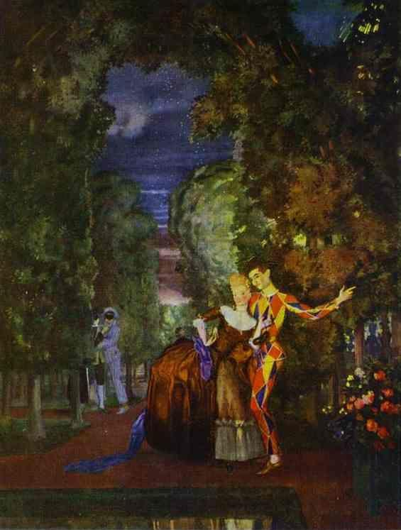 Constantin Somov. Lady and Harlequin.