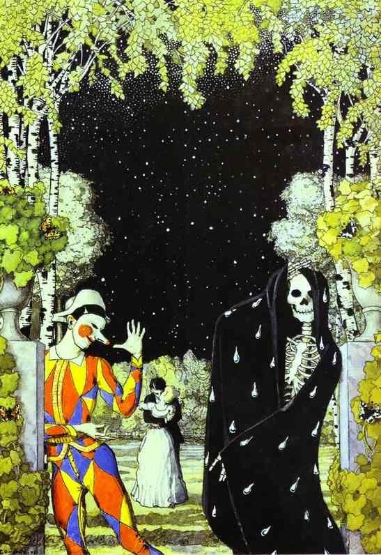 Constantin Somov. Harlequin and Death.