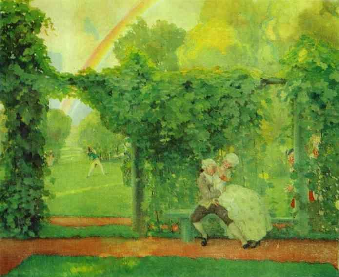 Constantin Somov. The Laughed Kiss.