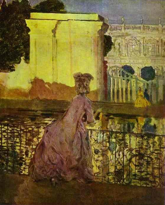 Constantin Somov. Lady by the Pool.