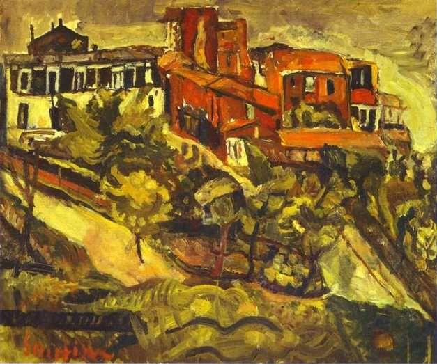 Chaim Soutine. Red Houses/Les maisons rouges.