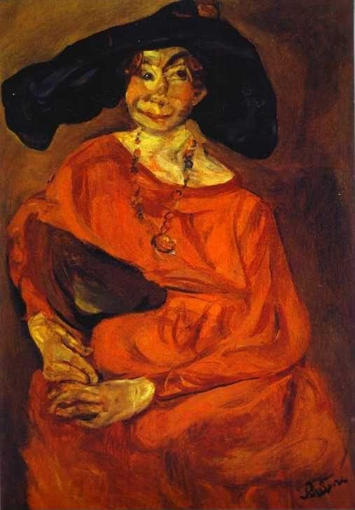 Chaim Soutine. Woman in Red./ La femme en rouge.