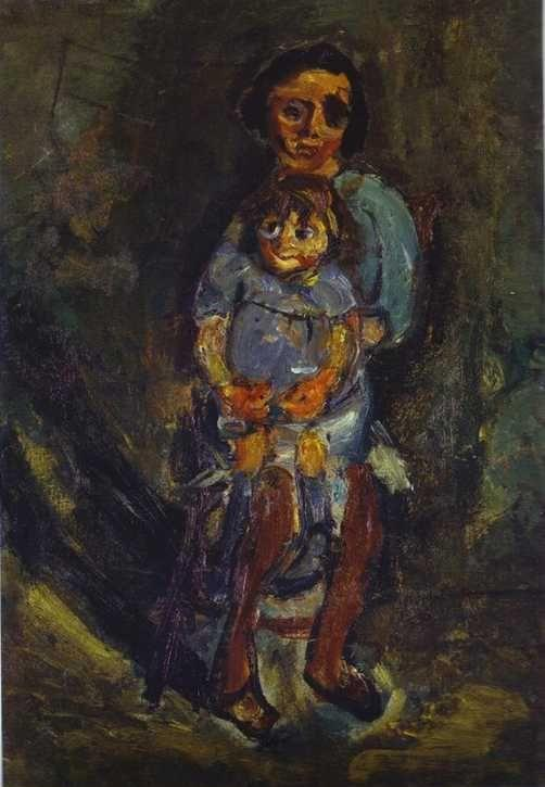 Chaim Soutine. Mother and Child/Mère et enfant.
