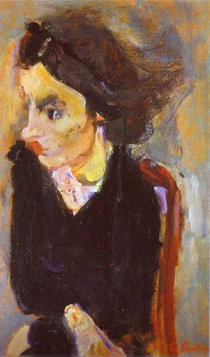 Chaim Soutine. Woman in Profile (Portrait of Madame Tennent).
