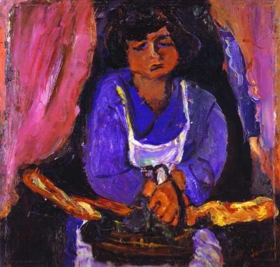 Chaim Soutine. Servant Girl in Blue/La servante en bleu.