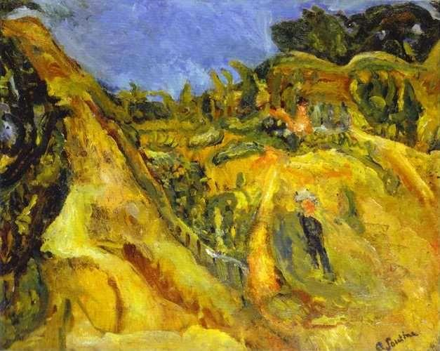 Chaim Soutine. Landscape of Southern France.
