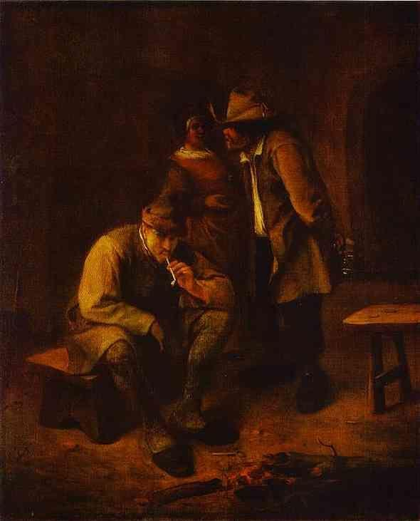 Jan Steen. Smoker.