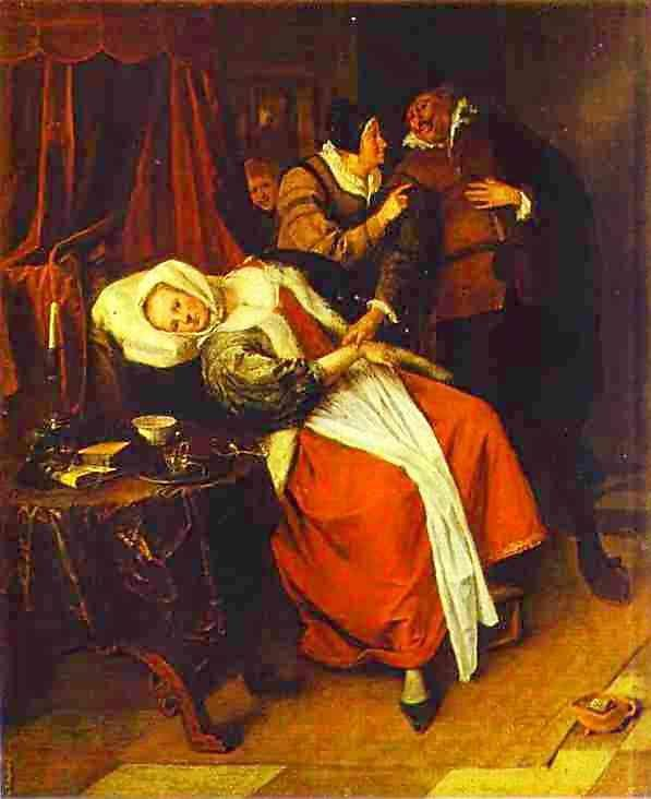 Jan Steen. Sick Woman and a Doctor.
