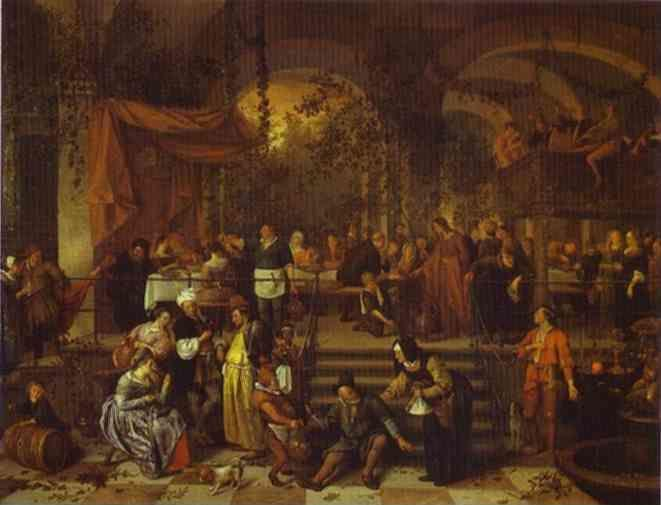 Jan Steen. The Marriage Feast at Cana.