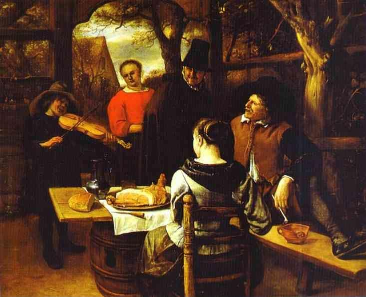 Jan Steen. The Meal.