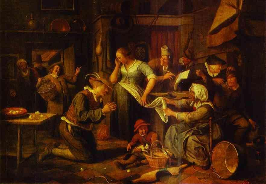 Jan Steen. Signing of a Marriage Contract.
