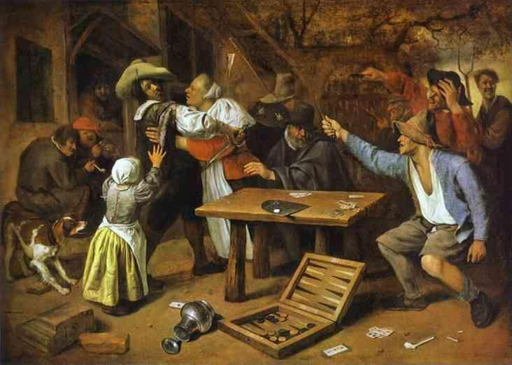 Jan Steen. Argument over a Card Game.