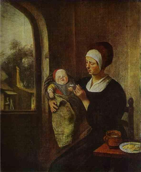 Jan Steen. Mother and Child.