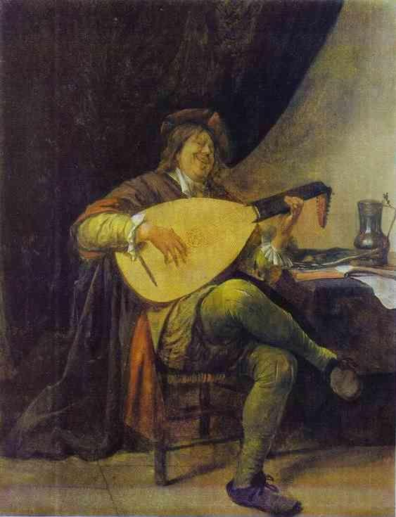 Jan Steen. Self-Portrait with a Lute.