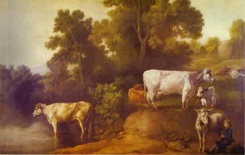 George Stubbs. Cattle by a Stream.