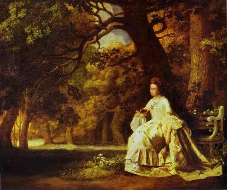 George Stubbs. Lady Reading in a Wooded Park.