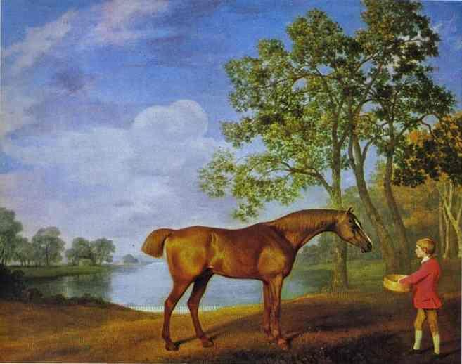 George Stubbs. Pumpkin with a Stable Lad.