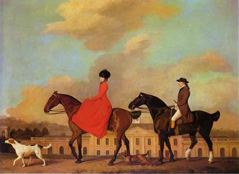 George Stubbs. John and Sophia Musters Out Riding at Colwick Hall.