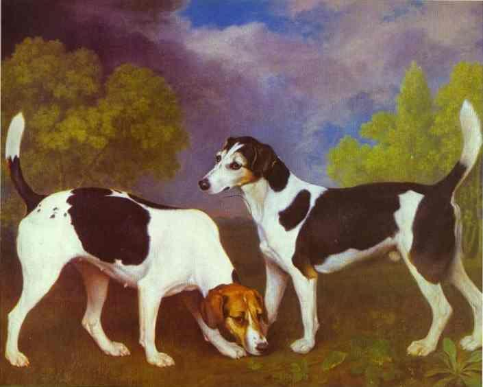George Stubbs. Hound and Bitch in a Landscape.