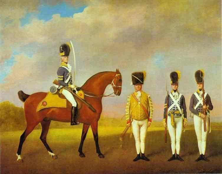 George Stubbs. Soldiers of the 10th Light Dragoons.