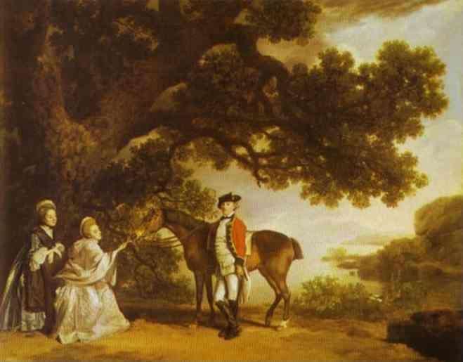George Stubbs. Colonel Pocklington with His Sisters.