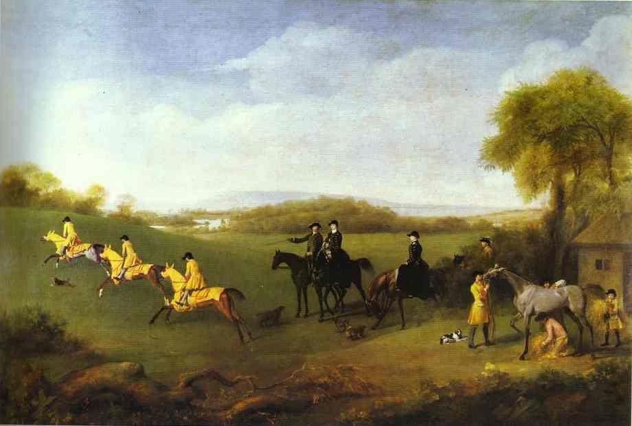 George Stubbs. Racehorses Belonging to the Duke of Richmond Exercising at Goodwood.