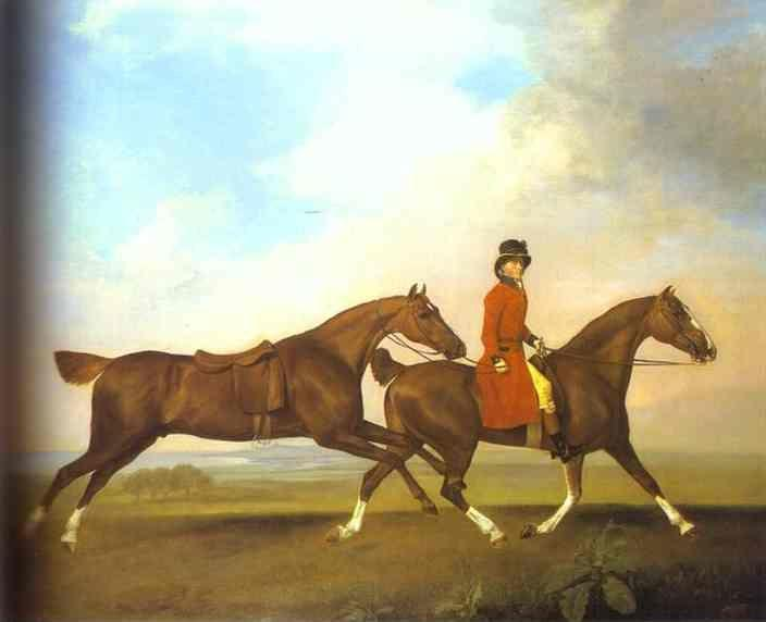 George Stubbs. William Anderson with Two Saddled Horses.
