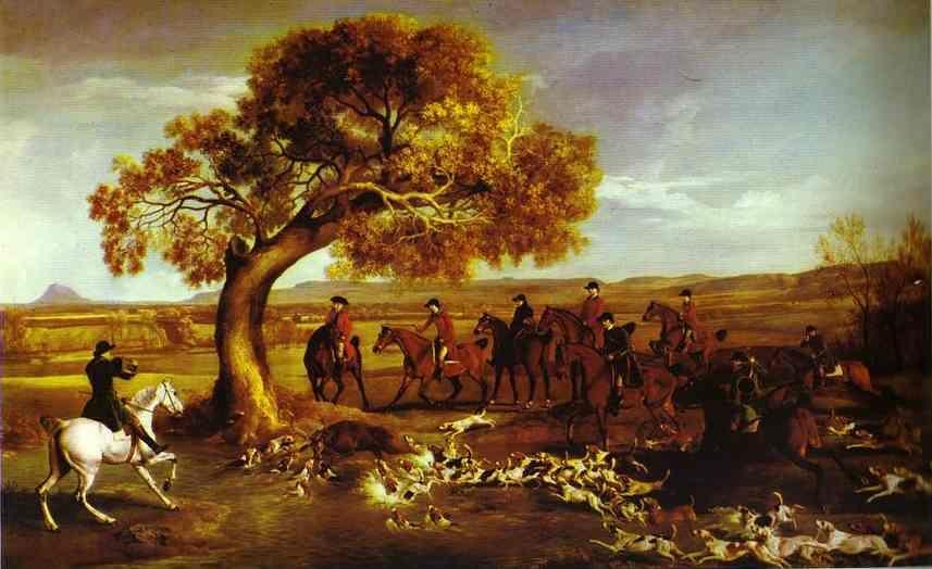 George Stubbs. The Grosvenor Hunt.